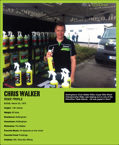 Chris Walker Rhino Goo Endorsement