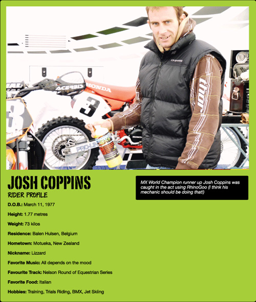 Josh Coppins Rhino Goo Endorsement