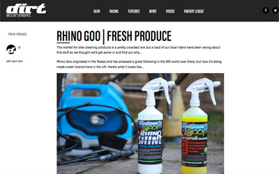 Rhino Goo Review Dirt Mag